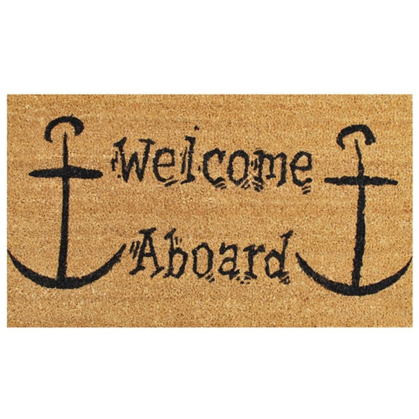 Welcome Aboard Doormat (1'5 x 2'5)