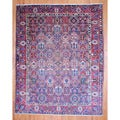Persian Hand-knotted 1930's Bakhtiari Navy/ Red Wool Rug (10'5 x 13')