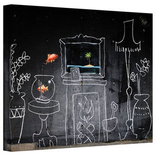 Banksy 'Chalk Fireplace' Gallery-Wrapped Canvas