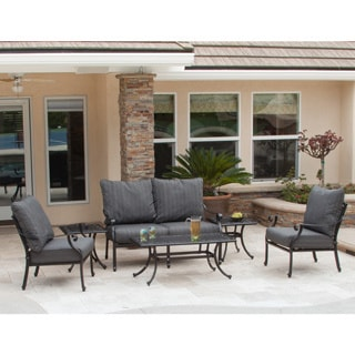 Christopher Knight Home Carnegie 6-piece Cast Aluminum Chat Set