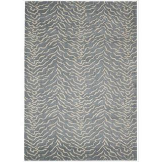 Kailash Animal Print Blue Rug (7'9 x 10'10)