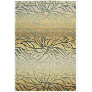 Hand-tufted Contour Abstract Lilies Breeze Rug (8' x 10'6)