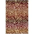 Hand-tufted Contour Abstract Lilies Flame Rug (7'3 x 9'3)