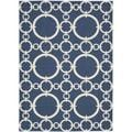 Waverly Sun and Shade Navy Rug (5'3 x 7'5)