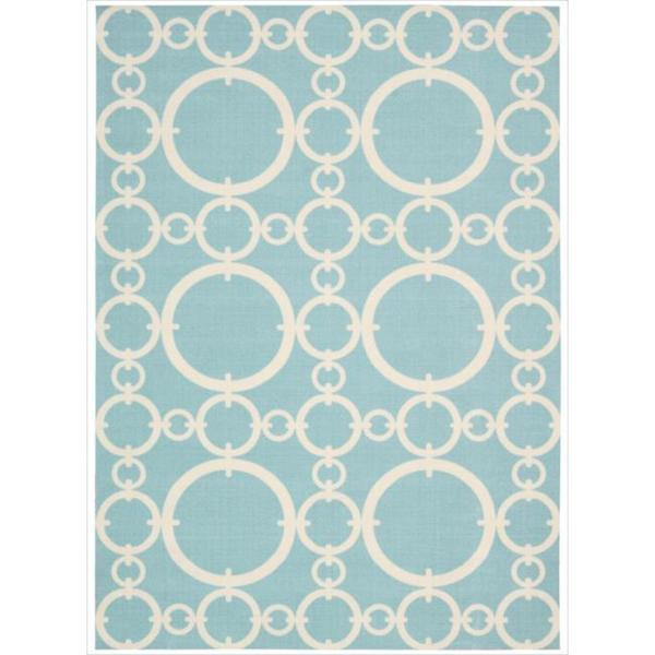 Waverly Sun N' Shade by Nourison Aquamarine Indoor/Outdoor Rug (7'9 x 10'10)