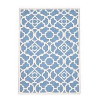 Waverly Sun and Shade Azure Rug (5'3 x 7'5)