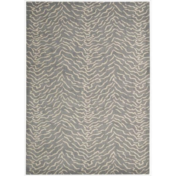 Kailash Animal Print Light Grey Rug (7'9 X 10'10