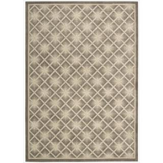 Kailash All Over Diamond Mocha Rug (7'9 x 10'10)