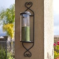 Iron/ Glass Cylinder Wall Sconce Candle Holder