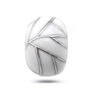 De Buman Sterling Silver Enamel Line Charm Bead