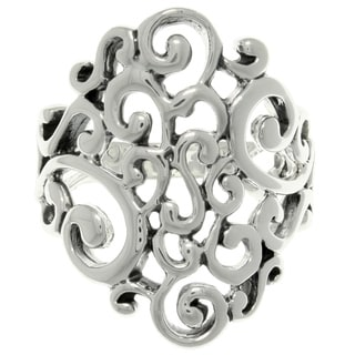 Carolina Glamour Collection Sterling Silver Swirl Ring
