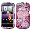 MYBAT Cloudy Hearts Diamante Case for HTC Amaze 4G