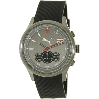 Puma Men's 'Motor' Black Strap/ Grey Dial Watch