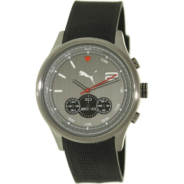 Puma Men's 'Motor' Black Strap/ Grey Dial Watch