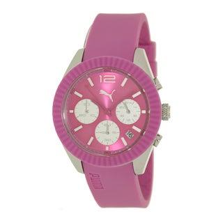 Puma Women's Motor PU102812003 Pink Polyurethane Quartz Watch with Pink Dial