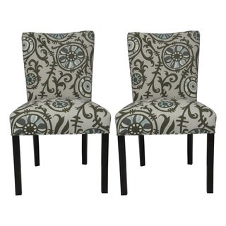 Julia Suzani 'Vine Village' Blue Dining Chairs (Set of 2)