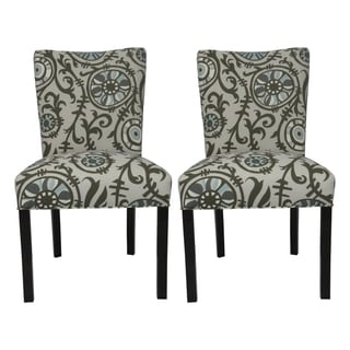 Julia Suzani 'Vine Village' Blue Dining Chairs (Set of 2)