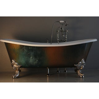 'The Lanercost' from Penhaglion 73-inch Cast Iron Slight Slipper Bateau Bathtub