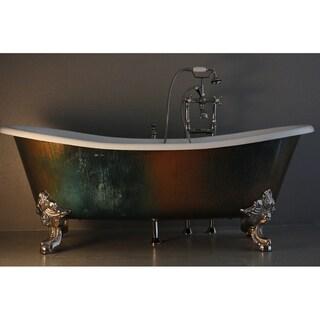'The Lanercost' from Penhaglion 73-inch Cast Iron Slight Slipper Bateau Bathtub