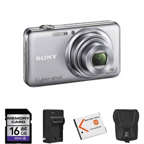 Sony Cyber-shot DSC-WX70 16MP Digital Camera Bundle
