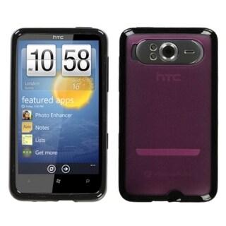 MYBAT Hot Pink/ Black Gummy Case for HTC HD7/ HD7S