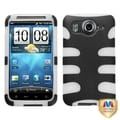 MYBAT Black/ T-Clear Fishbone Case for HTC Inspire 4G