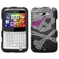 MYBAT Skull Diamante Case for HTC Status/ ChaCha