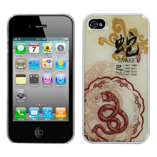 INSTEN Snake-Chinese Zodiac Collection Case Cover for Apple iPhone 4/ 4S
