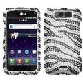 MYBAT Black Zebra Diamond Case for LG MS840 Connect 4G/ LS840 Viper