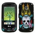 MYBAT Skull Fire Case for LG VN270 Cosmos Touch