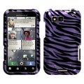 MYBAT Zebra Purple/ Black Case for Motorola Defy MB525