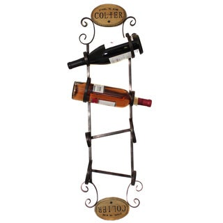 Colier Metal Wall 4-bottle Wine Rack Display