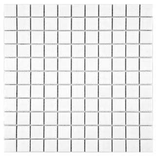 SomerTile 12x12-inch Victorian Matte White Porcelain Mosaic Tiles (Pack of 10)
