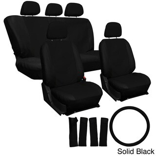 Oxgord PU Synthetic Leather 17-piece Seat Cover Set for Quality Imitation Leather Seats