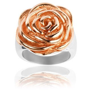 Goldplated Stainless Steel Rose Ring