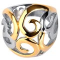 Goldplated Stainless Steel Swirl Heart Ring