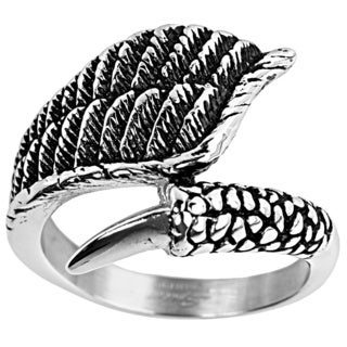 Stainless Steel Eagle Wing and Claw Ring