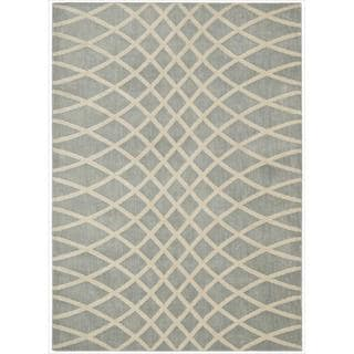 Kailash Grey Intertwining Wavy Lines Rug (7'9 x 10'10)
