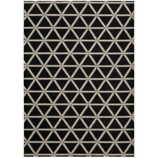 Kailash Black All Over Pyramid Rug (7'9 x 10'10)