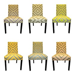 Nouveau 6 -Button Tufted Dining Chairs (Set of 2)