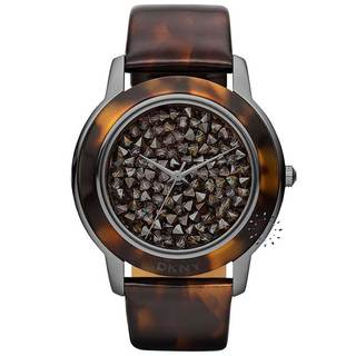 DKNY Women's Pave Dial Tortoise Shell Brown Watch