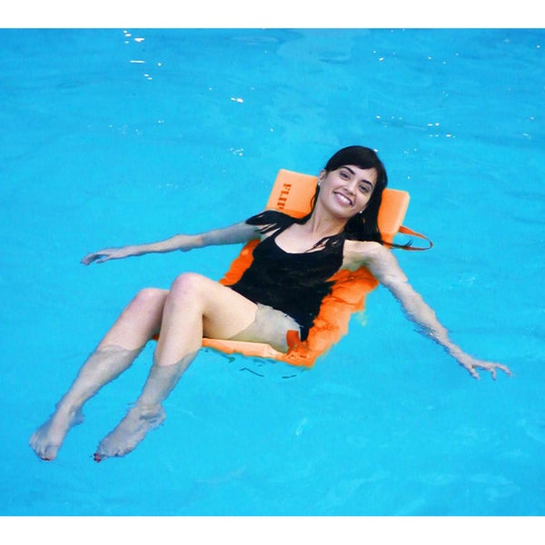 Orange Flip & Float Floating Pool Lounger