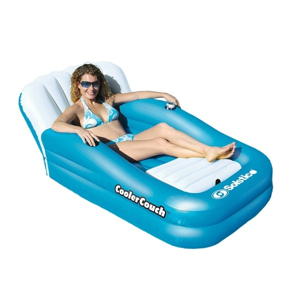 Inflatable pool lounger 63 68 the coolercouch oversized inflatable