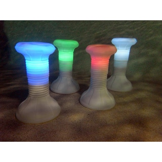 Adjustable Height In-Pool Resin Stool with Remote Control LED