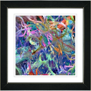 Studio Works Modern 'Blue Tangle' Framed Print