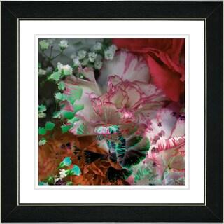 Studio Works Modern 'Royal Carnations in Red' Framed Print
