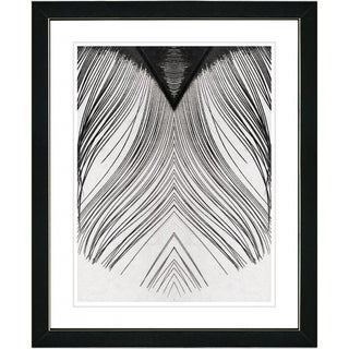 Studio Works Modern 'White Feather' Framed Print