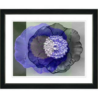 Studio Works Modern 'Blue Day Flower' Framed Print
