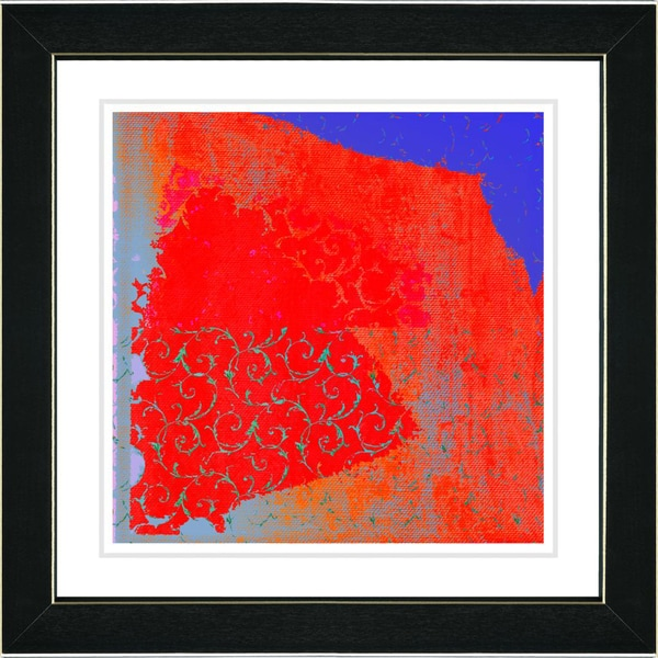 Studio Works Modern 'Spring Fever - Blue' Framed Print