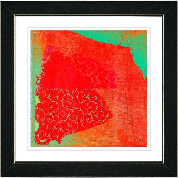 Studio Works Modern 'Spring Fever - Green' Framed Print